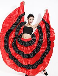 billige -ballroom dans Underdele Dame Træning Polyester Elastik Bølge-lignende Leveret Skjørter