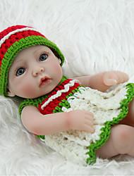 billige -NPK DOLL Reborn-dukker Babypiger 12 inch Fuld krops silicone / Silikone / Vinyl - livagtige, Hånd Anvendte Øjenvipper, Tippede og forseglede negle Børne Pige Gave / CE / Naturlig hudfarve