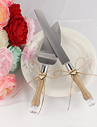 abordables -Métallique Mariage Anniversaire Boîte à cadeau Ensemble de service