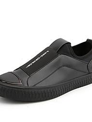 baratos -Homens sapatos Couro Ecológico Primavera / Outono Conforto Tênis Dourado / Preto / Vermelho