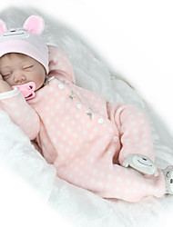 cheap -NPK DOLL Reborn Doll Baby Girl 22 inch Silicone / Vinyl - lifelike, Hand Applied Eyelashes, Tipped and Sealed Nails Kid's Girls' Gift