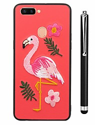 baratos -Capinha Para Vivo X20 Plus X20 Estampada Capa traseira Flamingo Animal Macia TPU para vivo X20 Plus vivo X20