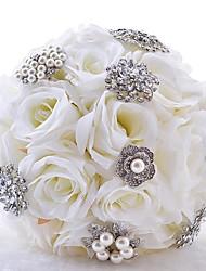 """Недорогие -Свадебные цветы Букеты Свадьба Шёлковая ткань рипсового переплетения 10,24""""(около 26см)"""