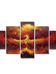 preiswerte -Gerollte Leinwand Modern, Fünf Panele Segeltuch Vertikal Druck Wand Dekoration Haus Dekoration