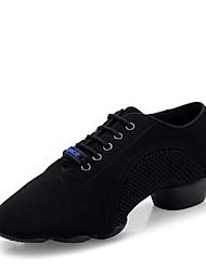 "cheap -Women's Jazz Oxford Split Sole Heel Professional Flat Heel Black Under 1"" Customizable"