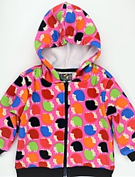 cheap -Girls' Daily Animal Print Color Block Jacket & Coat, Faux Fur Cotton Spring Fall Long Sleeves Cute Active Rainbow