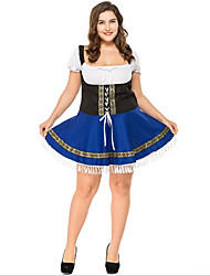 abordables -Oktoberfest/Cerveza Halloween Carnaval Oktoberfest Cumpleaños Festival / Celebración Disfraces de Halloween Azul Tinta Bloques Animal