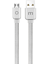 cheap -Micro USB USB Cable Adapter Braided Quick Charge Cable For Samsung Huawei LG Nokia Lenovo Motorola Xiaomi HTC 120 cm Nylon