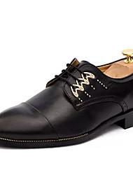 Muškarci Cipele Koža Proljeće Jesen Udobne cipele Oksfordice za Kauzalni Obala Crn Bijela