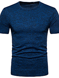 cheap -Men's Street chic T-shirt Round Neck
