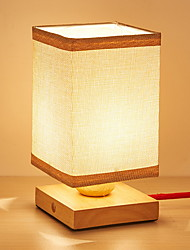 cheap -Modern/Contemporary Decorative Table Lamp For Living Room Wood/Bamboo Orange