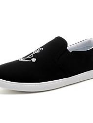 Homens sapatos Micofibra Sintética PU Primavera Verão Conforto Sapatos de mergulho Mocassins e Slip-Ons Drapeado Lateral para Casual Ao