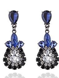 abordables -Femme Cristal Boucles d'oreille goutte - Cristal, Imitation Diamant Goutte Mode Bleu / Rose Pour Soirée / Cérémonie