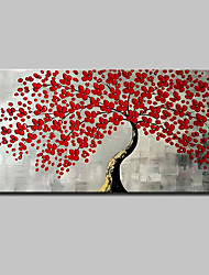 cheap -Oil Painting Hand Painted - 3D Floral / Botanical Modern Canvas