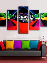 economico -Stampe a tela Modern, Cinque Pannelli Tela Verticale Stampa Decorazioni da parete Decorazioni per la casa