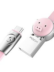 Недорогие -Micro USB Адаптер USB-кабеля Быстрая зарядка Кабель Назначение Samsung Huawei LG Nokia Lenovo Motorola Xiaomi HTC Sony 100 cm сплав цинка