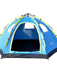 Недорогие -5-7 человек на открытом воздухе Световой тент Водонепроницаемость Дожденепроницаемый Влагонепроницаемый Воздухопроницаемость Однокомнатная Однослойный 1000-1500 mm Палатка для
