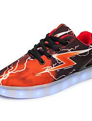 cheap -Men's PU(Polyurethane) Spring / Fall Comfort Sneakers Color Block Black / Red / Black / Blue / Orange / Black / Camouflage Color