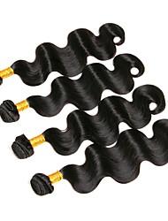 Недорогие -4 Связки Бразильские волосы Естественные кудри Натуральные волосы Человека ткет Волосы Ткет человеческих волос Расширения человеческих волос / 8A