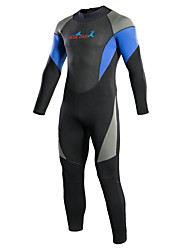 cheap -Bluedive Men's Full Wetsuit 3mm Neoprene Diving Suit Thermal / Warm, Quick Dry Long Sleeve - Swimming / Diving / Surfing Back Zipper /