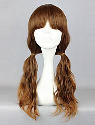 abordables -Pelucas de Cosplay Lolita Marrón Sólido Peluca de Lolita  60cm CM Pelucas de Cosplay Un Color Pelucas Para
