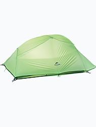 Недорогие -Naturehike 3-4 человека Двойная Палатка Однокомнатная Туристические палатки Быстровысыхающий С защитой от ветра Дожденепроницаемый для