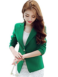 cheap -Women's Work Blazer - Solid Solid Color