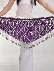 economico -Danza del ventre Semplici Per donna Addestramento Poliestere Cintura Paillettes Cintura