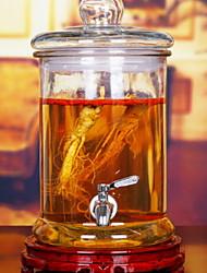 baratos -Vidro Inoxidável corpo transparente Armazenamento Armazenamento de alimentos 1pç Organização de cozinha