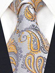 preiswerte -Herrn Party Büro, Kunstseide Hals-Binder Einfarbig Paisley-Muster Jacquard