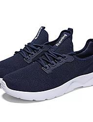 Homens sapatos Tule Primavera Outono Conforto Tênis Caminhada para Atlético Azul Escuro Branco/Preto Preto/Vermelho