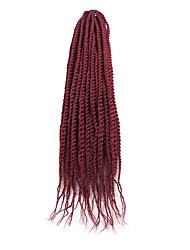 Недорогие -Волосы для кос Сенегальский твист Вязание крючком для волос Искусственные волосы 1pack косы волос 45 см