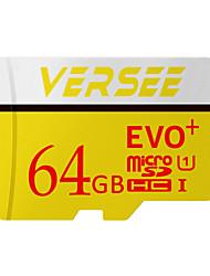 Недорогие -Versee 64 Гб SD-карта / Карточка TF Micro SD карты карта памяти UHS-I U3