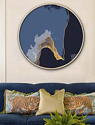 baratos -Abstrato Paisagem Ilustração Arte de Parede,Plástico Material com frame For Decoração para casa Arte Emoldurada Sala de Estar