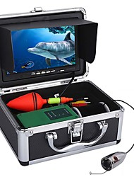 cheap -30m 1000tvl underwater fishing video camera kit 6 pcs led lights with 7 inch color monitor