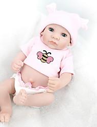 abordables -NPK DOLL Muñecas reborn Bebé 12 pulgada Cuerpo completo de silicona / Silicona / Vinilo - natural, Pestañas aplicadas a mano, Clavos inclinados y sellados Kid de Regalo / CE / Tono de piel natural