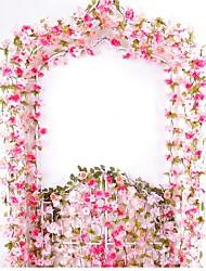 Недорогие -Искусственные Цветы 2 Филиал Пастораль Стиль Сакура Цветы на стену