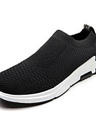 Muškarci Cipele Prozračan Mesh Proljeće Jesen Udobne cipele Atletičarke tenisice Hodanje za Atletski Crn Crno-bijeli