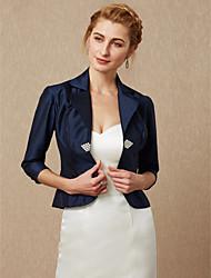 cheap -3/4 Length Sleeves Taffeta Wedding Party / Evening Women's Wrap With Rhinestone Buckle Coats / Jackets