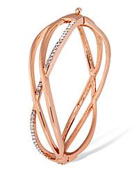 billige -Dame Kvadratisk Zirconium Armbånd - Rose Gold, Zirkonium Klassisk, Mode Armbånd Guld Til Fest Formel