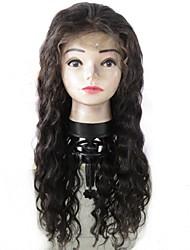 levne -Nezpracované Panenské Přírodní vlasy 100% lidské vlasy Peruánské vlasy Krajka paruka Vlnitá Plovoucí vlny Dětské vlasy Krajka vpředu