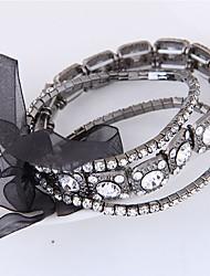 Недорогие -Жен. стек Браслет цельное кольцо - Бант европейский, Мода Браслеты Черный Назначение Для вечеринок