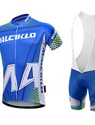 economico -Malciklo Per uomo Manica corta Maglia con salopette corta da ciclismo - Bianco Nero Formale Geometrico Bicicletta Set di vestiti, Pad 3D,