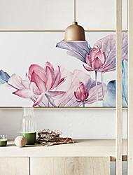 cheap -Landscape Floral/Botanical Illustration Wall Art,Plastic Material With Frame For Home Decoration Frame Art Living Room Indoor