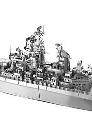 baratos -USS Missouri (BB-63) Quebra-Cabeças 3D Quebra-Cabeças de Metal Militar Barco de Guerra Encouraçado Metalic Aço Inoxidável 1pcs Barco