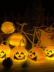 cheap -10 LEDs 1.5M Pumpkin String Light Warm White AA Batteries Powered for Halloween Decoration