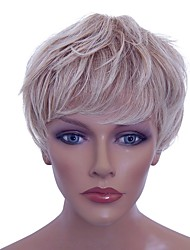 cheap -Synthetic Wig Curly Blonde Layered Haircut Synthetic Hair Natural Hairline Blonde Wig Capless Light Blonde