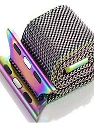 economico -Cinturino per orologio  per Apple Watch Series 3 / 2 / 1 Apple Cinturino a maglia milanese Acciaio Custodia con cinturino a strappo