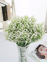 cheap -4pcs Branch Polyester Baby Breath Tabletop Flower Artificial Flowers Home Decoration Wedding Flowers