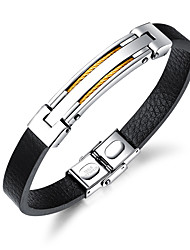 cheap -Men's Bangles ID Bracelet , Fashion Cool Leather Line Jewelry Daily Going out Costume Jewelry